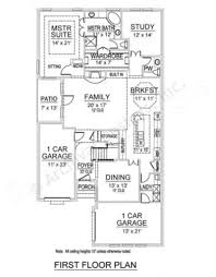 Narrow House Plans With Garage Stone River Narrow House Plans Texas Floor Plans