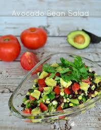 avocado bean salad png
