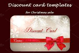 discount cards for christmas sale card templates creative market