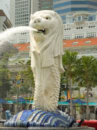 singapore lion merlion lion fish photo business district singapore