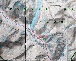 Topographical Map Of South America by Trekking Map Of Aconcagua Argentina Terraquest U2013 Mapscompany