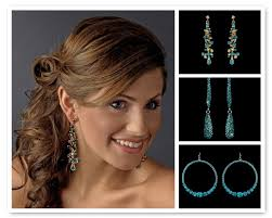 turquoise bridal earrings stress away bridal jewelry boutique turquoise earrings stress