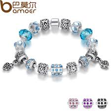 european bracelet images Bamoer hot sell european style silver crystal charm bracelet for jpg