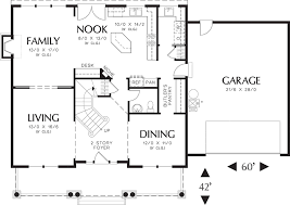 Floor Plan For 2 Story House Craftsman Style House Plan 4 Beds 2 50 Baths 2500 Sq Ft Plan 48 105