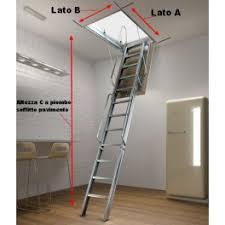 scale retrattili per soffitte scala retrattile foro 150 altezza 350