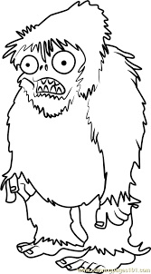 zombie yeti printable coloring kids adults