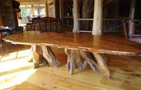 unfinished wood furniture of wooden rustic long dining table with