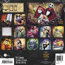 the nightmare before christmas wall calendar 2017 day dream