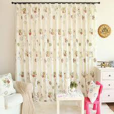 Childrens Room Curtains Embroidery Indigo Blue Curtains Mediterranean Style