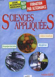 sciences appliqu s cap cuisine livre sciences appliquees alimentation equipements hygiene