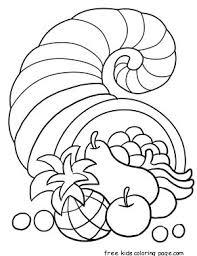 thanksgiving cornucopia coloring page church thanksgiving