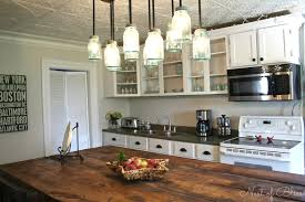 kitchen island lamps mason jar island lights with kitchen renovation makeover progress