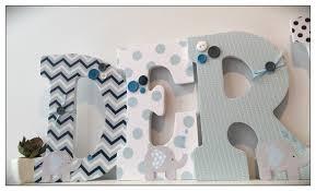 Navy Nursery Decor Elephant Nursery Wood Letters Blue Navy Nursery Decor Name