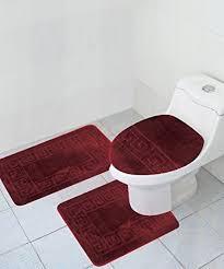 Bathroom Contour Rugs 3 Bath Rug Set Pattern Bathroom Rug 20 X32