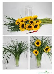 sunflower arrangements diy sunflower arrangement diy flowers sunflower