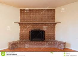 Living Room Red Brick Fireplace Red Brick Fireplace Stock Photo Image 48386583