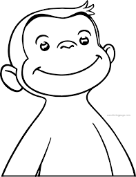 monkey face coloring page coloring page