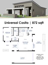 modern home plans universal casita house plan 61custom contemporary modern