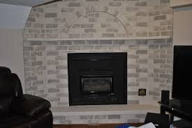 interior whitewashing brick fireplace whitewash paint brick