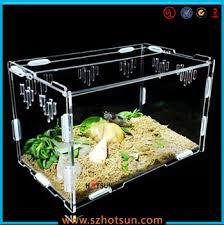 diy detachable clear acrylic reptile terrarium plastic reptile