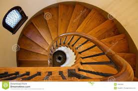 wooden spiral staircase stock photo image 1662490