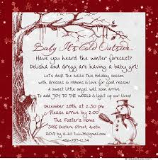 Christmas Baby Shower Invitations - winter snow baby shower invitations classic elegant style