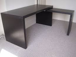 ikea black brown desk ikea malm desk and pull out side office table workstation black