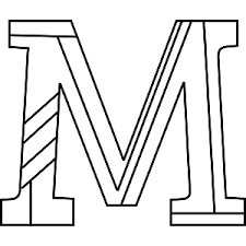 M Coloring Page M Coloring Pages