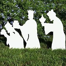 teak isle outdoor complete nativity