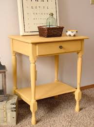 Yellow Table L Distressed Coffee Table Timeless Creations Llc