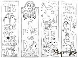 free printable coloring bookmarks template pinterest