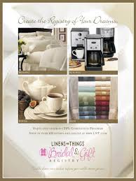 bridal registry online mercer design works client linens n things bridal