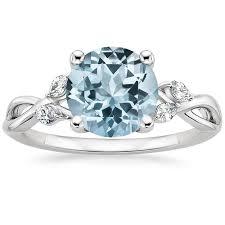 aquamarine wedding rings aquamarine engagement rings brilliant earth