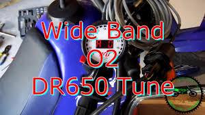 suzuki dr650 supermoto wide band o2 sensor tune youtube