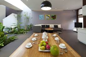 House Design Inside Garden Urban Vietnamese House Garden Kitchen Dining And Living Space