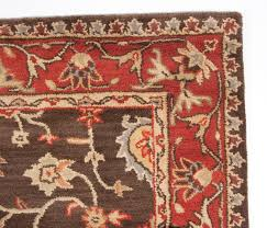 Rug 5x8 Traditional Royal Wool Hand Tufted Area Rug 5x8 Brown Red Gold