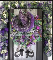 halloween wreath with door garland halloween decoration