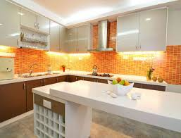 Orange And White Kitchen Ideas Colorful Kitchens Modern Kitchen Cabinets Colors Kitchen