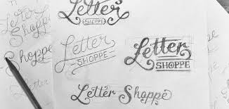 creating a hand lettered logo design invision blog