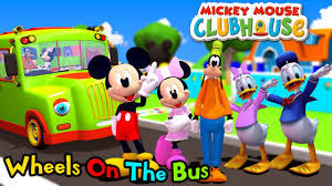 mickey mouse clubhouse wheels bus nursery rhymes 3d