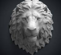 lion heads for sale lion 3d models to print yeggi