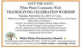 community interfaith thanksgiving service white plains