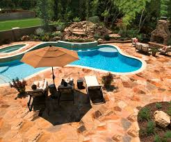 Pool Patio Pictures by Pool Rails In Ground Pool Steps Patio Umbrellas Wooden Fence Pool