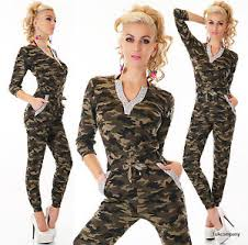 camouflage jumpsuit womens s camouflage jumpsuit v neck army catsuit chino
