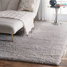 Solid Grey Rug Amazon Com Soft U0026 Plush Nursery Solid Silver Kids Shag Area Rugs