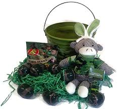 camouflage easter eggs camo sock monkey easter basket starter bundle includes 6 items