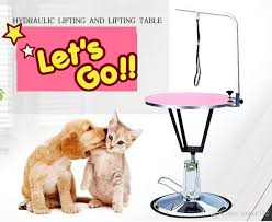 dog hair cutting table 2018 round hydraulic lifting pet dog grooming table dog table for