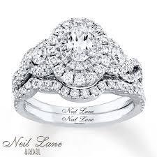 neil lane engagement rings jared neil lane bridal set 1 5 8 ct tw diamonds 14k white gold