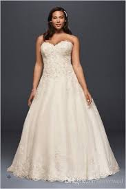 discount 2017 plus size a line tulle wedding dresses sweetheart
