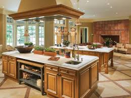 kitchen island vent kitchen room rectangle brown lacquer oak wood kitchen island